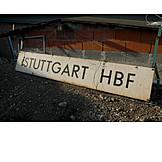 Information sign, Main station, Stuttgart