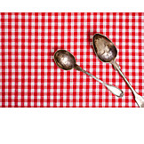 Spoon, Checked, Checked pattern, Silver spoons