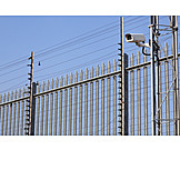 Fence, Camera, Cctv