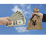 Money exchange, Us dollar, Yen