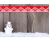 Backgrounds, Christmas, Wood, Snowman, Bow