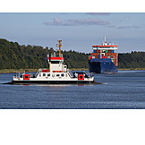 Ferry, Container ship, Kiel canal