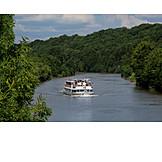 Boating, Ship, Water transport, Neckar, Passenger shipping