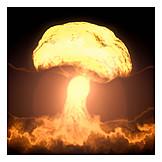 Radio active, Atomic bomb, Atomic cloud