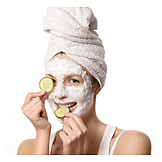 Beauty & cosmetics, Facial mask, Anti, Aging, Cucumber mask