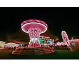 Funfair, Rotation, Fun fair, Amusement park, Chain swing ride