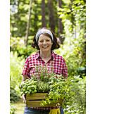 Gardening, Culinary herbs, Gardener, Planting