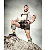Bavaria, Hiker, Traditional clothing, Lederhosen