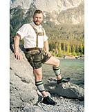 Man, Bavaria, Traditional, Lederhosen