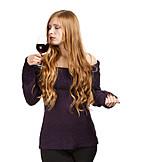 Young Woman, Indulgence & Consumption, Wine, Winetasting