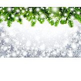 Copy space, Backgrounds, Christmas, Fir branch