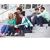 Teenager, School Children, Friends, Smart Phone