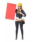 Presentation, Handywoman, Building worker