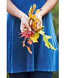 Leaves, Autumn leaves, Hand