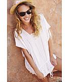 Young woman, Sunglasses, Summer sundress