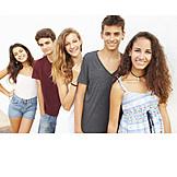 Teenager, Zusammenhalt, Freunde
