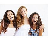 Teenager, Zusammenhalt, Freundinnen