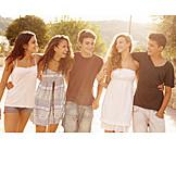 Teenager, Umarmen, Freundschaft