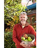 Senior, Apples, Apple harvest, Harvesting