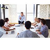Geschäftsmann, Business, Meeting, Schulung