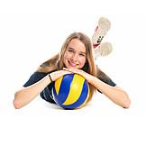 Teenager, Mädchen, Jugendliche, Volleyball