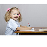 Child, Girl, Writing, Learning