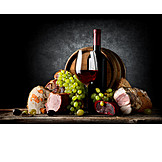 Indulgence & Consumption, Specialty, Red Wine, Ham, Delicacies