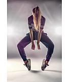Teenager, Young Woman, Hip Hop, Dancing, Breakdancing