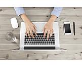 Business Woman, Mobile Communication, Laptop, Workplace