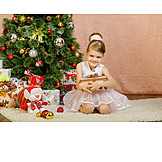 Child, Girl, Christmas, Christmas Present