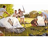 Summer, Friends, Camping, Tent construction