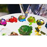 Color palette, Hobbies, Acrylic paint