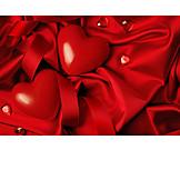 Heart, Valentine, Satin