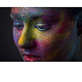 Portrait, Body paint, Bodypainting
