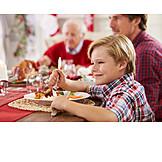 Boy, Christmas dinner