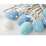 Easter eggs, Easter decoration, Pussy willow
