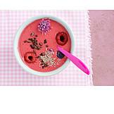Dessert, Raspberries, Smoothie