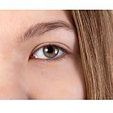 Teenager, Auge, Blick