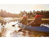 Romantic, Paddling, Kayak