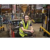 Young woman, Warehouse, Warehouse, Warehouse clerk