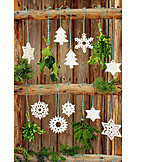 Vehicle trailer, Christmas tree decorations, Homemade