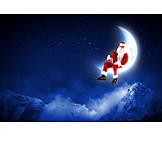Mountain range, Santa clause, Christmas eve
