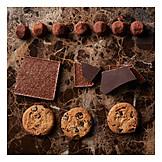 Chocolate, Truffle mushroom, Chocolate biscuits