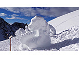 Snow sculpture, Snow figure, Klausberg
