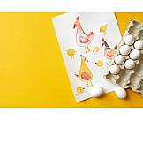 Egg, Illustration, Chicken, Egg box