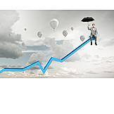 Business, Up, Upswing, Breakthrough