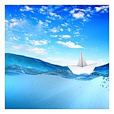 Holiday & travel, Boat, Cruise, Paper boats