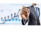 Business, Wachstum, Gewinn, Positiv, Aufschwung