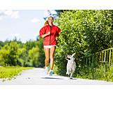 Young woman, Run, Running