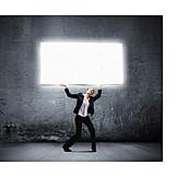 Business, Leuchtreklame, Reklame, Annonce, Werben